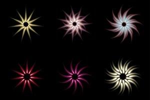 Shine stars with glitters