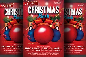 Christmas Bash Party Flyer Template