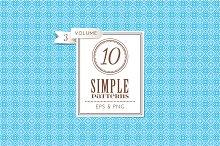 Set of 10 simple patterns Vol. 3