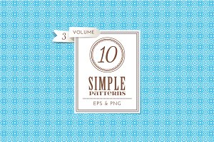Set of 10 simple patterns Vol. 3