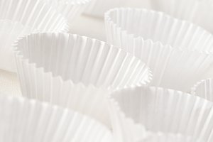 White cupcake mold