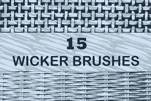 15 Wicker Brushes