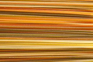 Orange pasta texture