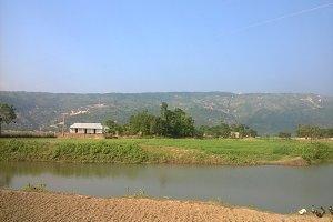A village river