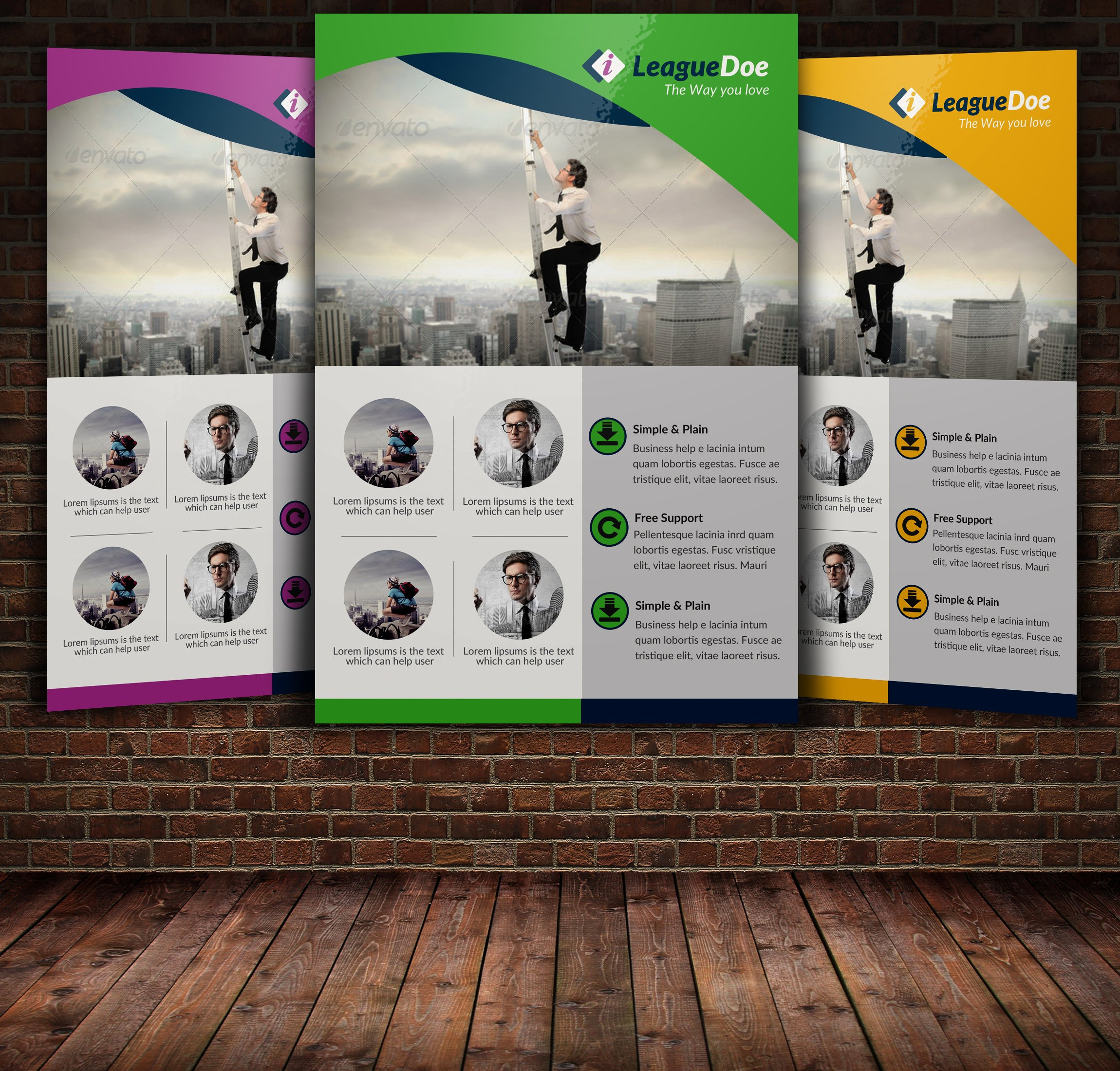 Recruitment agency flyer template flyer templates for Recruiting brochure template