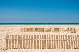 Fence on a beach