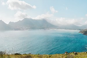 Hout Bay from Chapman's peak Drive,