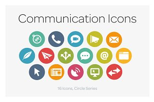 Circle Icons: Communication