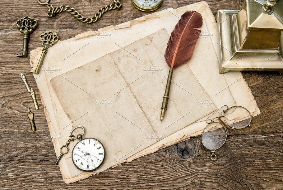 Antique Office Supplies Accessories Business