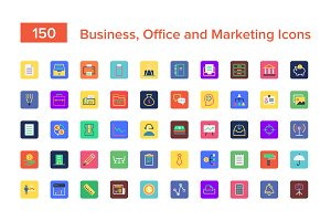 Business, Office and Marketing Icons