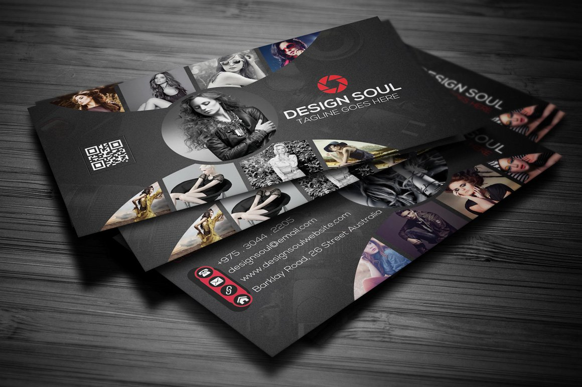 Photography business card business card templates creative market reheart Image collections