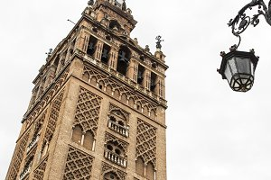 Famous cathedral and Giralda in Sevi