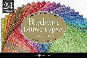 Radiant Glitter Paper Pack • Digital
