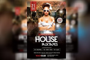 House Mixtapes - PSD Flyer