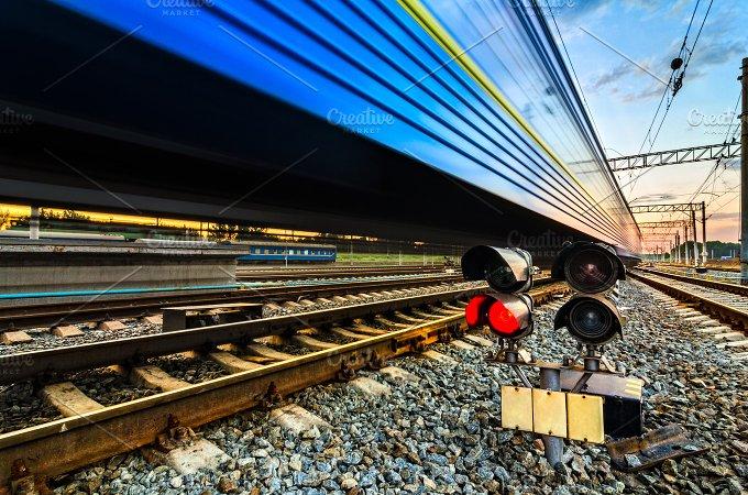 High speed passenger train. railroad - Transportation