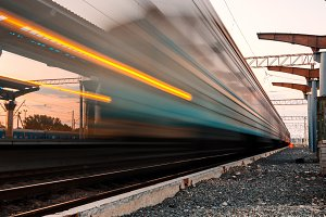 High speed passenger train. railroad