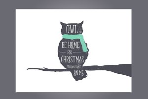 """Owl Be Home"" Christmas Greeting"