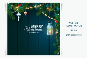Christmas and New Year card