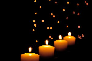 Candles with bell effect