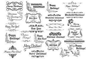 Christmas calligraphic lettering col