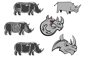 African rhinoceros  characters
