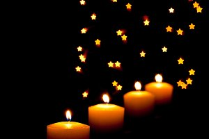 Candles with star effect