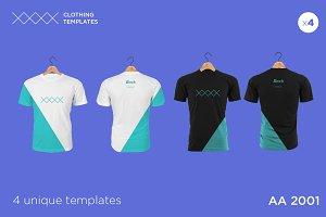 AA 2001 -Blank T-shirt mock up set