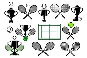 Tennis tournament icons