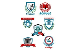 Heraldic emblems for school, college