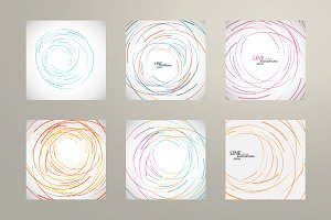 Vector abstract line circle design