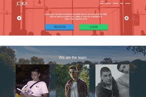 Jojka - Portfolio Web Design - PSD