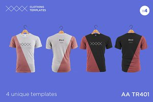AA TR401 - Blank T-shirt mock up set
