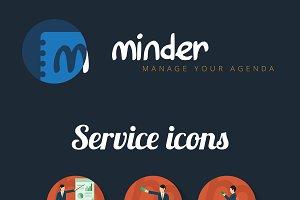 Minder Logo & Service Icon
