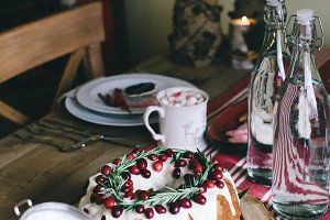 Rustic Holiday Table
