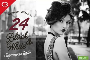 24 Black & White Photoshop Actions