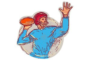 American Football Quarterback Throwi
