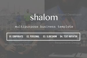 Shalom - Multipurpose template