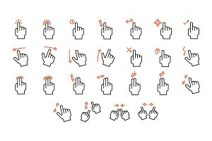 Touch Screen Gestures Set