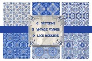 Set of Vintage Tiles