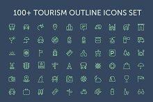 100+ Tourism Outline Icons Set