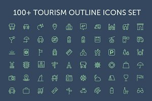 100+ Tourism Outline Icons Set