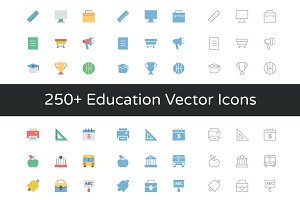 250+ Education Vector Icons