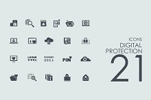 21 digital protection icons