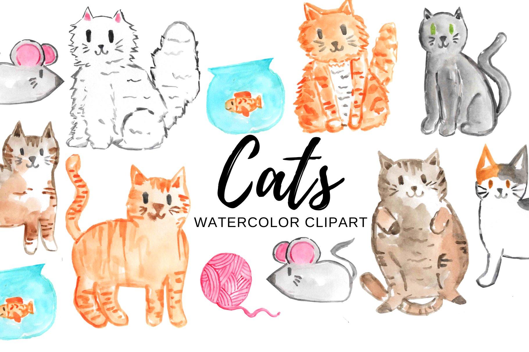 Cartoon Christmas Cats Holiday Card | Christmas cats, Christmas paintings,  Christmas characters
