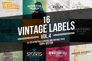 Vintage Labels & Badges Vol.4