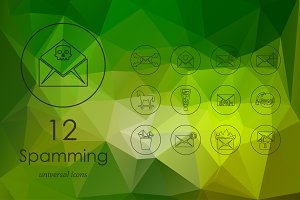 12 spamming icons