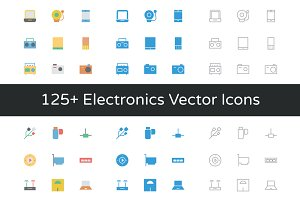 125+ Electronics Vector Icons