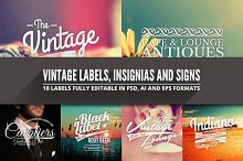 Vintage Badges, Insignias & Signs