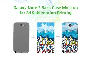 Galaxy Note 2 3dCase Back Mock-up
