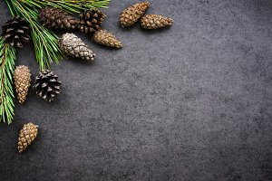 Background with cones
